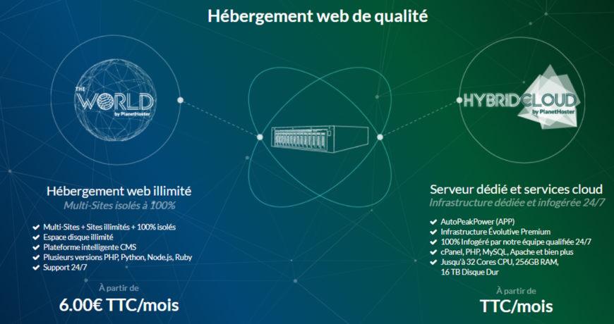 Hebergement web illimité